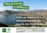 JSRM organiza la 'I Marcha Verde' por la regeneración de la Bahía de Portmán