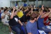 Un centenar de alumnos de primero conoce las instalaciones de la UPCT antes de comenzar sus clases