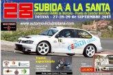La 28º edición del Rally Subida a Santa tendrá lugar los próximos 27, 28 y 29 de septiembre