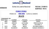 El primer premio de la Lotería Nacional toca en Totana
