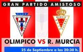 El Olímpico de Totana y el Real Murcia CF disputan este miércoles el amistoso que se suspendió el pasado mes de julio