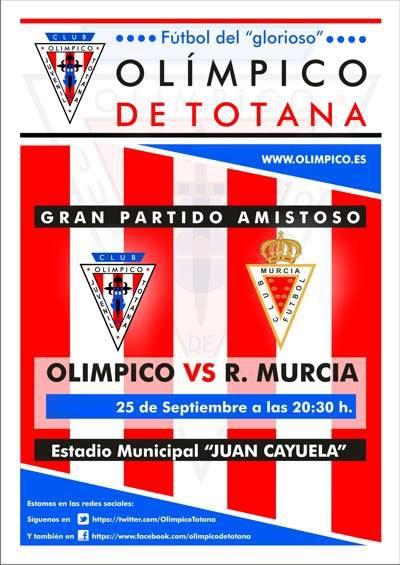 El Olímpico de Totana y el Real Murcia CF disputan este miércoles el amistoso que se suspendió el pasado mes de julio, Foto 1