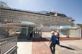 El Riviera atraca por primera vez en Cartagena