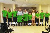 El 'plan idisma' integra a 8 discapacitados de Mazarr�n en labores de jardiner�a para el consistorio