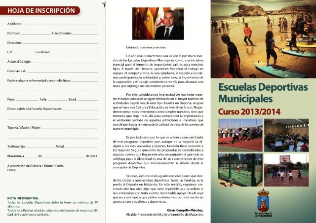 Abierto el plazo de inscripción para las escuelas deportivas municipales 2013 - 2014, Foto 1