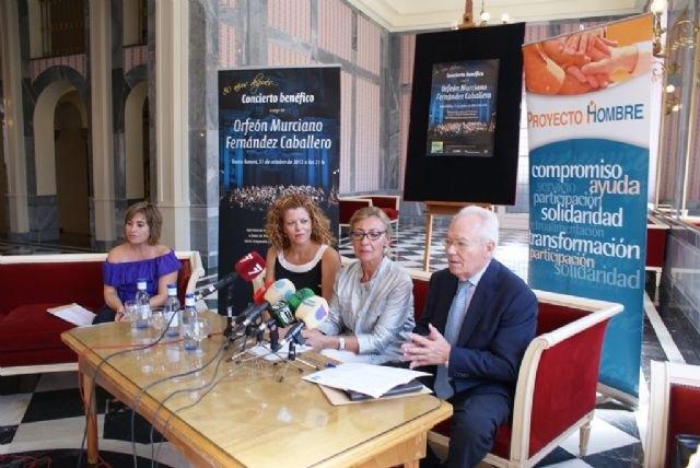 El Orfeón Fernández Caballero ofrecerá un concierto a beneficio de Proyecto Hombre Murcia - 1, Foto 1