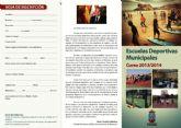 Abierto el plazo de inscripci�n para las escuelas deportivas municipales 2013 - 2014
