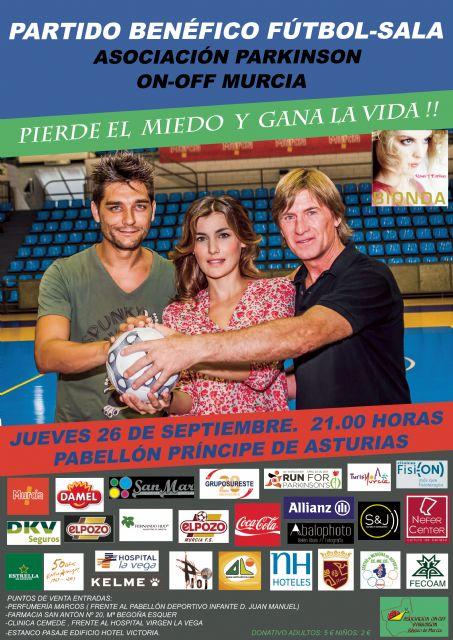 Partido benéfico de fútbol-sala entre famosos a favor de la Asociación On Off Parkinson de la Región de Murcia - 1, Foto 1