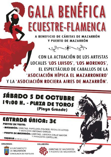 Festejos programa una gala ecuestre – flamenca a beneficio de Cáritas de Mazarrón y Puerto, Foto 1