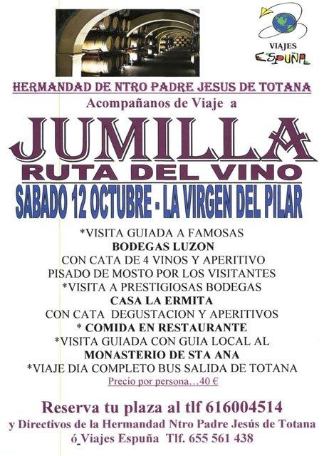 La Hermandad de Ntro Padre Jesús organiza un viaje a Jumilla Ruta del Vino, Foto 1