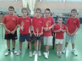 6 Trofeos para los jugadores del Club Totana T.M. en el Open Ciudad de Mula celebrado esta pasado fin de semana en el Pabellón Javi García.