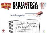 La Biblioteca Pública de Alguazas se adhiere a la campaña solidaria 'Quitapesares' emprendida por su homóloga Regional