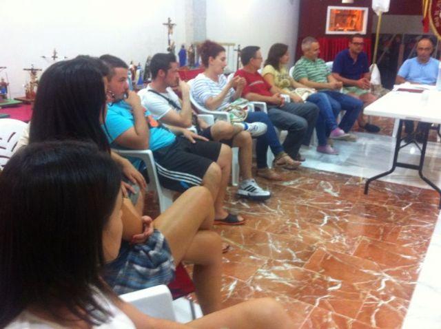 La nueva junta directiva de la Hdad. de Jes�s en el Calvario y Santa Cena se reune con el Consiliario, Foto 2