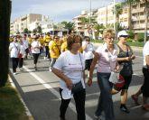 Más de 200 lumbrerenses participan en la 'III Marcha Solidaria' de la Asociación Lumbrerense de Enfermos de Alzheimer ALDEA