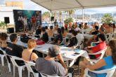 Los participantes de la XIX jornadas de limpieza de fondos marinos de la Bah�a de Mazarr�n recogen 170 kilos de residuos