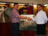 Los patrocinadores del VI Concurso Nacional de Pintura Rápida al Aire Libre 'Villa de Alguazas' reciben en propiedad las obras ganadoras de este prestigioso certamen