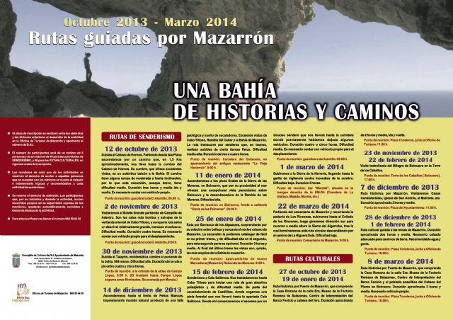Mañana se inicia ´Una bahía de historias y caminos´ con una ruta senderista que subirá al Cabezo de Hornos - 1, Foto 1