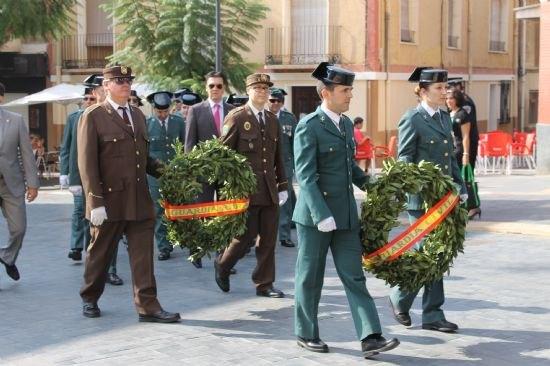 La Guardia Civil protagoniza un emotivo homenaje a la Bandera española el Día de la Hispanidad, Foto 1