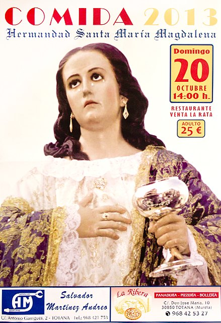 Este domingo 20 de octubre se celebrar� la tradicional comida de la Hermandad de Santa Mar�a Magdalena, Foto 1