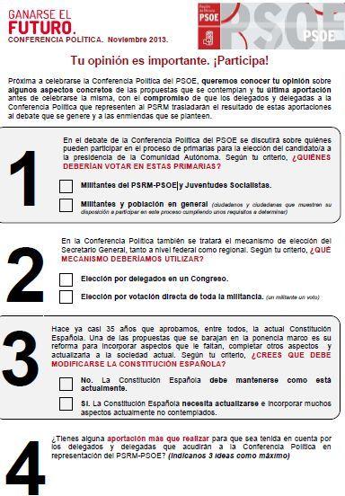 Todos los afiliados del PSOE podrán votar y proponer sobre cuestiones básicas para la mejora democrática del partido y del país, Foto 1