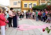 Mujeres lumbrerenses participan en la V Marcha Popular con motivo del Día Internacional Contra el Cáncer de Mama