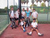 Doble victoria del equipo del Club Tenis Totana en la Liga Regional Interescuelas