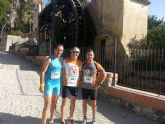Atletas del Club Atletismo Totana participaron en la I Carrera Popular del Castillo en Mula y en la V Carrera 'Ruta de las Norias' de Abarán