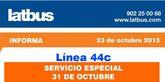 Latbus pone en marcha un servicio especial los días 31 de octubre y 1 de noviembre con motivo de la festividad de Todos los Santos