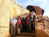 Quince embajadores europeos visitan el parque minero de La Unión