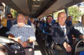 Finalmente parten dos autobuses desde Totana a la manifestación convocada hoy en Murcia