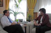 La alcaldesa se reúne con el Delegado de Gobierno de la Región de Murcia para abordar asuntos referentes a Puerto Lumbreras