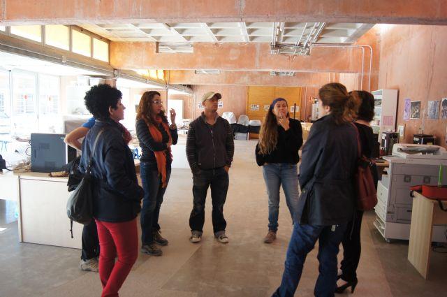 La alcaldesa de Totana visita el Yacimiento Argárico de La Bastida para conocer de primera mano los trabajos de acondicionamiento del parque turístico, Foto 1