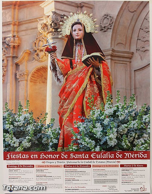 The religious ceremonies of the festival in honor of Santa Eulalia tear on December 8 with the procession of the patron down, Foto 2