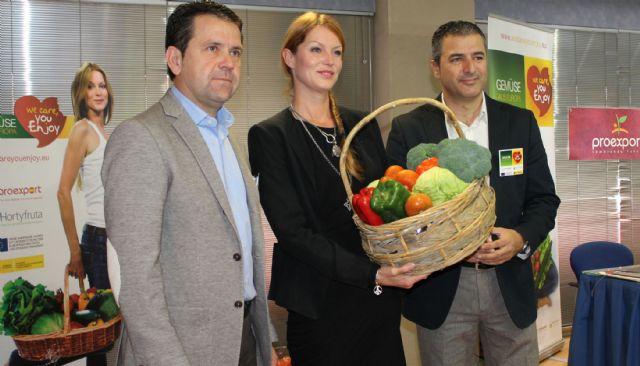 PROEXPORT muestra a la Embajadora de las Hortalizas Europeas la calidad de las hortalizas de la Región de Murcia, Foto 1