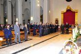 Los caballeros de Santa Bárbara, los empresarios y las amas de casa rinden homenaje al Cristo de los Mineros