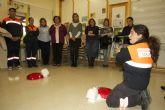 Voluntarios de Protección Civil colaboraron con el AMPA del 'Fulgencio Ruiz' en una charla sobre atragantamiento y reanimación