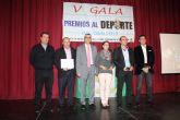 La taekwondista Isabel Mª Sánchez y el empresario Antonio Albaladejo premiados en la V Gala del Deporte de Roldán