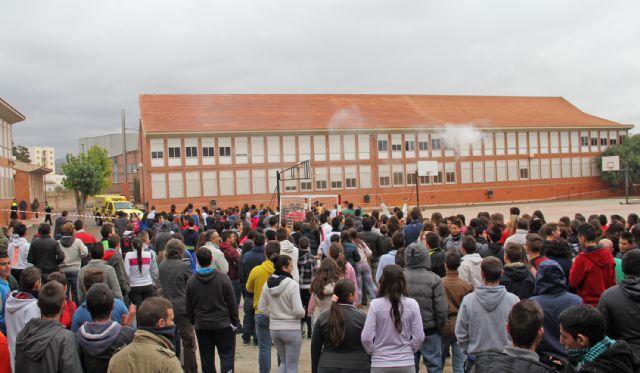 Simulan un incendio en el IES Rambla de Nogalte - 2, Foto 2