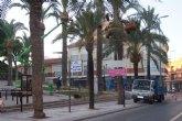 Se inician los trabajos de poda y fumigación de las palmeras en los parques y jardines del casco urbano de Totana
