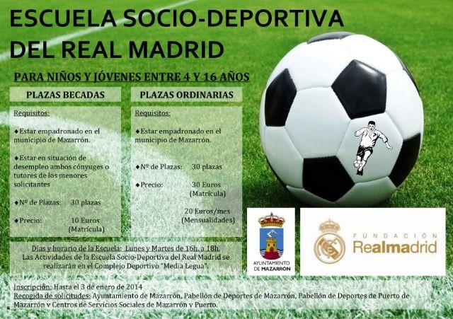 Deportes amplía hasta enero la inscripción para la escuela socio-deportiva de la ´Fundación Real Madrid´, Foto 1