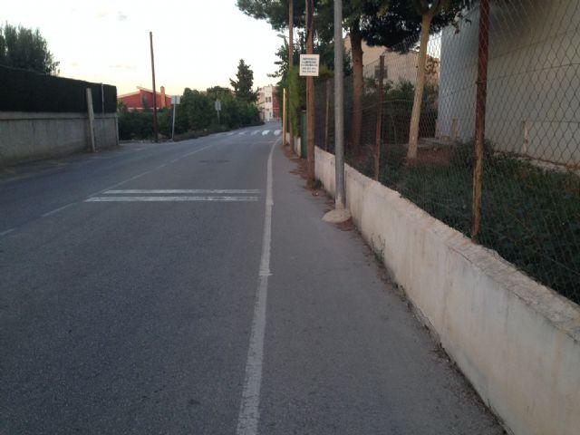 Los socialistas reclaman que se construyan aceras entre Aljucer y San Ginés - 1, Foto 1