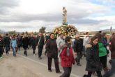 La Purísima recorre La Estación-Esparragal acompañada por la Cuadrilla y cientos de vecinos