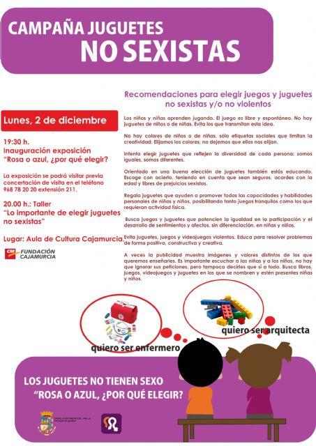 Esta tarde tendrá lugar en Cajamurcia, el taller La importancia de elegir juguetes no sexistas - 1, Foto 1