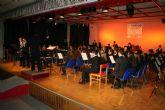 Cientos de personas celebran con la Sociedad Musical de Cehegín su reciente triunfo en Murcia