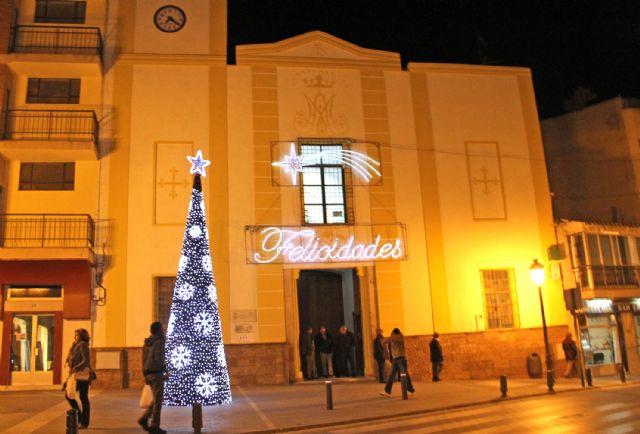 Las luces navideñas iluminan Puerto Lumbreras con iluminación led para favorecer el ahorro energético - 1, Foto 1
