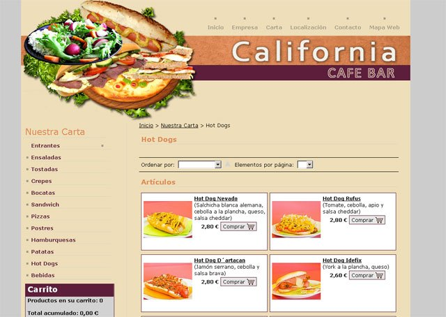 You can make your order California Café-Bar from your computer or smartphone
