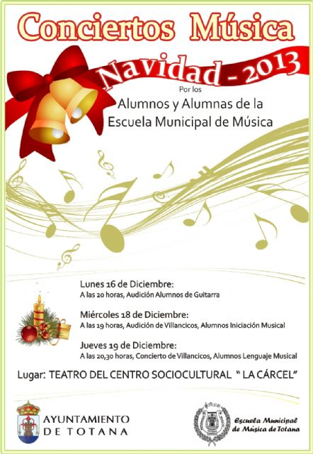 "This afternoon begin ""Christmas 2013"" concerts of the municipal music school to be held in ""prison"""