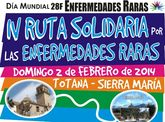 El de 2 de Febrero de 2014 tendrá lugar la IV Edición de la Ruta Solidaria por las Enfermedades Raras