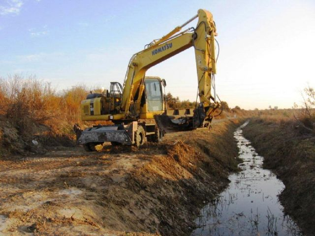 CHS performs dredging the lower reaches of the river Guadalentin in Totana