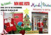 Papá Noel visitará un año más Mundo Piñatas para recoger las cartas de los más peques de la casa